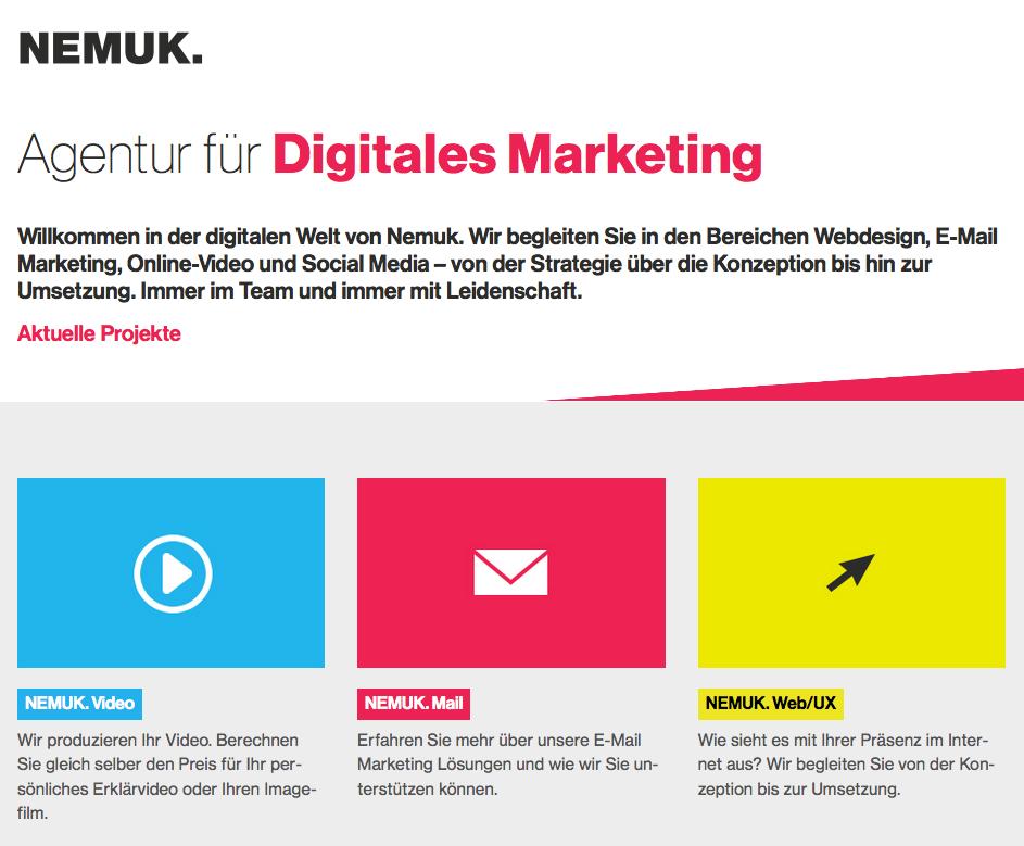 agentur fuer online marketing webdesign